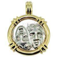 #8571 Dioscuri Twins Drachm Pendant