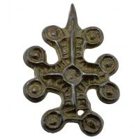 #8586 Byzantine Bronze Cross Pendant