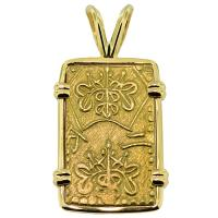 SOLD #8618 Shogun Nibu Kin Pendant; Please Explore Our Japanese Pendants For Similar Items.
