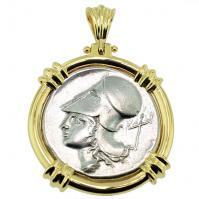 SOLD Athena & Pegasus Stater Pendant; Please Explore Our Greek Pendants For Similar Items.