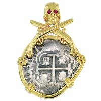 SOLD #8703 Consolacion Shipwreck 1 Real Pendant; Please Explore Our Spanish Shipwreck Pendants For Similar Items.