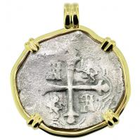 SOLD Sao Jose Shipwreck 4 Reales Pendant; Please Explore Our Spanish Treasure Pendants For Similar Items.