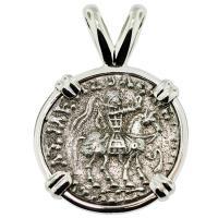 #8784 King Azes II Drachm Pendant