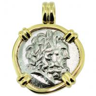 SOLD Zeus and Athena Stater Pendant; Please Explore Our Greek Pendants For Similar Items.