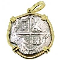 #8811 King Philip IV Spanish 4 Reales Pendant