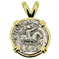 SOLD #8842 King Azes II Drachm Pendant; Please Explore Our Greek Pendants For Similar Items.