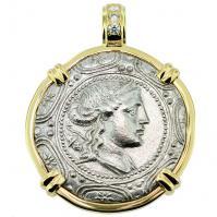 SOLD Artemis Tetradrachm Pendant; Please Explore Our Greek Pendants For Similar Items.