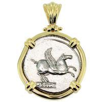 #8905 Pegasus and Bacchus Denarius Pendant