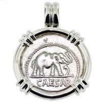 SOLD #8906 Julius Caesar Denarius Pendant; Please Explore Our Roman Pendants For Similar Items.