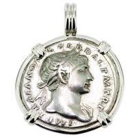 SOLD #8909 Emperor Trajan & Victory Denarius Pendant; Please Explore Our Roman Pendants For Similar Items.