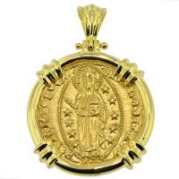 SOLD #8914 Jesus Christ Ducat Pendant; Please Explore Our Gold Coin Pendants For Similar Items.