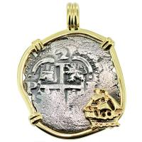 SOLD Consolacion Shipwreck 2 Reales Pendant; Please Explore Our Spanish Shipwreck Pendants For Similar Items.