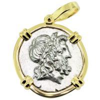 SOLD Zeus & Athena Stater Pendant; Please Explore Our Greek Pendants For Similar Items.