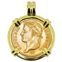 SOLD #8983 Napoleon 20 Francs Pendant; Please Explore Our Gold Coin Pendants For Similar Items.