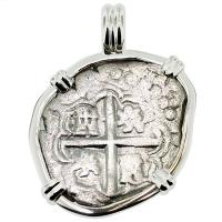 #8987 King Philip III Spanish 2 Reales Pendant