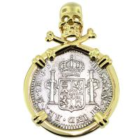 SOLD #8994 El Cazador Shipwreck 1 Real Pendant; Please Explore Our Spanish Shipwreck Pendants For Similar Items.