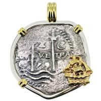 #8995 Consolacion Shipwreck 2 Reales Pendant