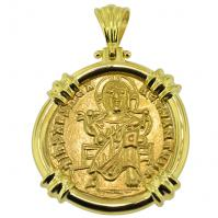 SOLD Jesus Christ Solidus Pendant; Please Explore Our Gold Coin Category For Similar Items.