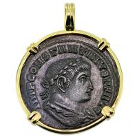 SOLD Constantine the Great & Sol Pendant; Please Explore Our Roman Pendants For Similar Items.