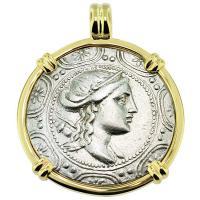 SOLD #9049 Artemis Tetradrachm Pendant; Please Explore Our Greek Pendants For Similar Items.