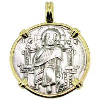 SOLD #9054 Venetian Jesus Christ Grosso Pendant; Please Explore Our Medieval Category For Similar Items.