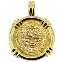 SOLD Portuguese 1000 Reis Pendant; Please Explore Our Gold Coin Pendants For Similar Items.