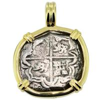 SOLD Concepcion Shipwreck 2 Reales Pendant; Please Explore Our Spanish Shipwreck Pendants For Similar Items.