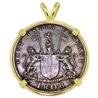 #9074 Admiral Gardner Shipwreck Coin Pendant