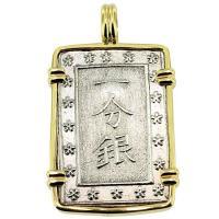 #9089 Shogun Ichibu Gin Pendant