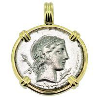 #9098 Apollo & Horseman Denarius Pendant