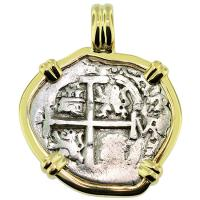 #9104 King Charles II Spanish 1 Real Pendant