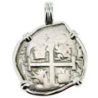 SOLD #9105 King Charles II Spanish 1 Real Pendant; Please Explore Our Colonial Pendants For Similar Items.