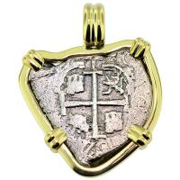 SOLD Consolacion Shipwreck 1 Real Pendant; Please Explore Our Spanish Shipwreck Pendants For Similar Items.