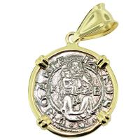 SOLD #9142 Madonna & Child Denar Pendant; Please Explore Our Medieval Category For Similar Items.