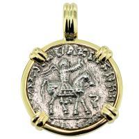 #9146 King Azes II Drachm Pendant