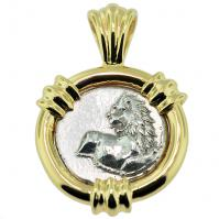 Greek Lion Hemidrachm Pendant