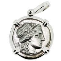 SOLD Apollo & Athena Drachm Pendant; Please Explore Our Greek Pendants For Similar Items.