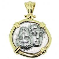 SOLD Dioscuri Twins Drachm Pendant; Please Explore Our Greek Pendants For Similar Items.