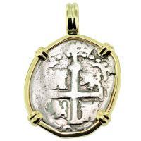 #9167 King Charles II Spanish 1 Real Pendant