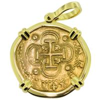 #9168 Philip II Two Escudos Doubloon Pendant