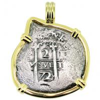 SOLD Consolacion Shipwreck 2 Reales Pendant; Please Explore Our Spanish Treasure Pendants For Similar Items.