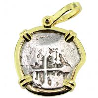 Spanish 1715 Fleet Shipwreck 1 Real Pendant