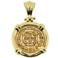 #9189 Portuguese 400 Reis Pendant