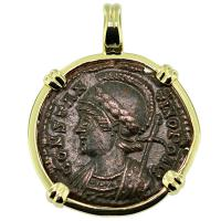 SOLD #9213 Constantinopolis Follis Pendant; Please Explore Our Roman Pendants For Similar Items.