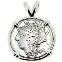 #9232 Roma and Saturn Denarius Pendant