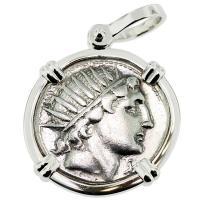 SOLD Sol and Luna Denarius Pendant, Please Explore Our Roman Pendants For Similar Items.