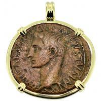 #9237 Caesar Augustus Dupondius Pendant