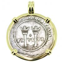 SOLD King Charles and Johanna 1 Real Pendant; Please Explore Our Spanish Treasure Pendants For Similar Items.