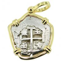 #9247 King Philip V Spanish 2 Reales Pendant