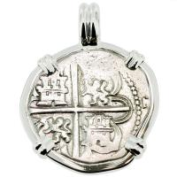 #9248 King Philip II Spanish 1 Real Pendant